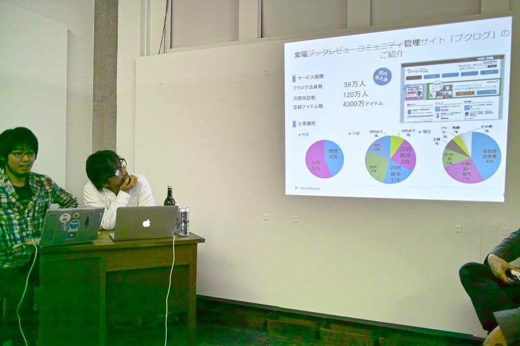 変電管理サイト(?)「ブクログ」を紹介する大西氏